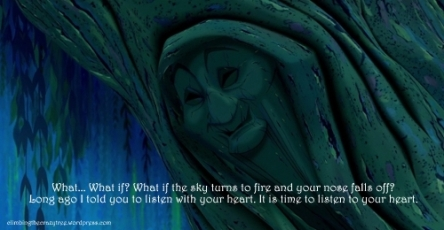 This has always been one of my favourite Disney moments - something I remind myself of when I get on the what-if train.