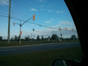 Hot Air Balloons on the way to Run Club