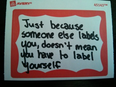 labeling yourself