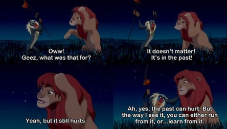 Another Disney gem. The crazy baboon has a point.