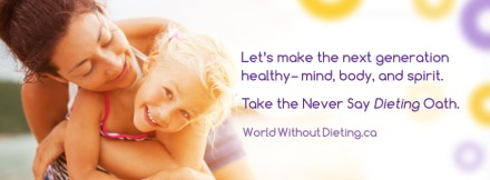 But seriously guys, check it out at worldwithoutdieting.com - there's actually some seriously heartwarming oaths there!